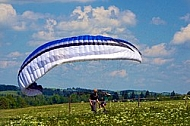 2013-06-07 King Ludwig Open 2013. Paragliding, Takeoff from a ramp, Tegelberg, Schwangau, Germany