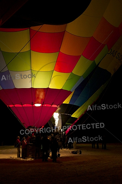 2014-01-15 Hot air balloon festival in the Tannheim Valley, Austria