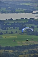2015-08-24 Paragliding, Takeoff from a ramp, Tegelberg, Schwangau, Germany
