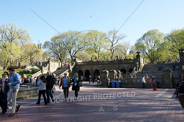 Bethesda Terrace, Central Park in New York City, United States