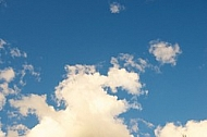 Blue sky, white cloud