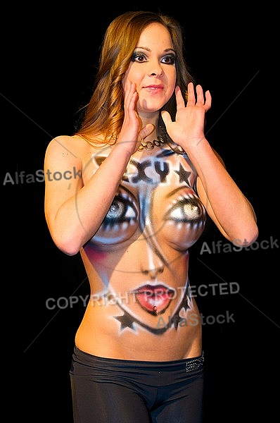 Body painting, sexi girls