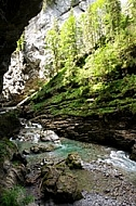 Breitachklamm ravine in Bavaria in Germany
