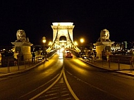 Chain Bridge with lions, Budapest, Hungary