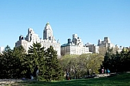 East side of Manhattan seen from the Central Park in New York City, United States