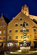 Füssen - Old town in Bavaria, Germany