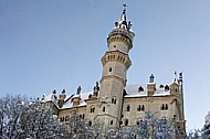 Famous Neuschwanstein Castle in Schwangau, Germany