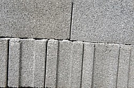 Grey formed concrete