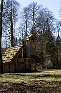 Old wood house in the forest, Germany