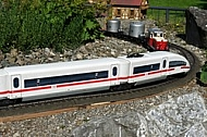 Rail transport modelling,  Mainau in Lake Constance, Germany