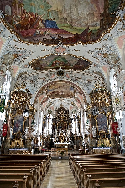 Rococo church, Seeg, Bavaria, Germany