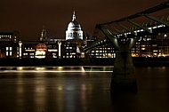 St Pauls Cathedral, London by night, UK