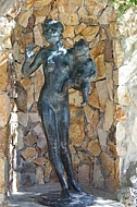 Statuary, man with child