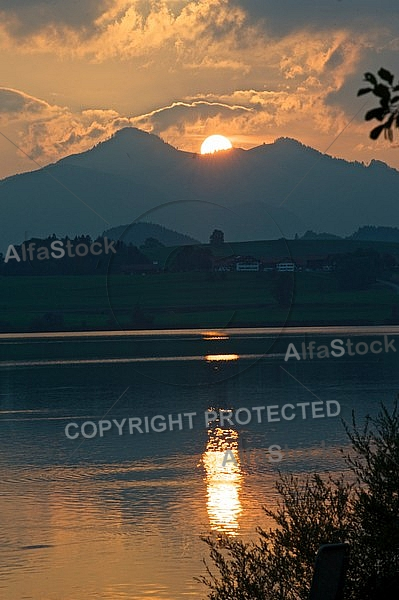 Sunset at the Lake Hopfensee