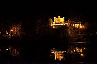 The Amazing Hohenschwangau Castle by night in Germany