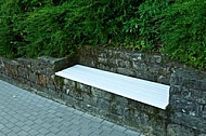 White Bench in the Rock