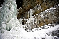 Winter at Breitachklamm ravine in Bavaria in Germany