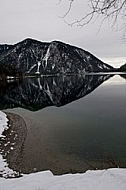 Winter at lake, Plansee, Austria